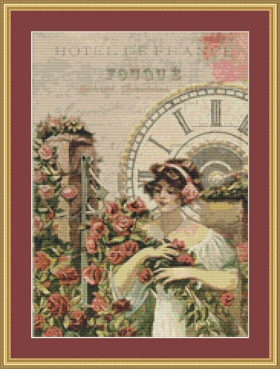 Hotel De France Cross Stitch Pattern /Digital PDF Files /Instant downloadable