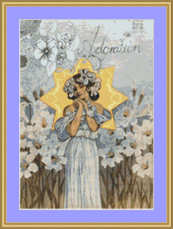Adoration Cross Stitch Pattern /Digital PDF Files /Instant downloadable