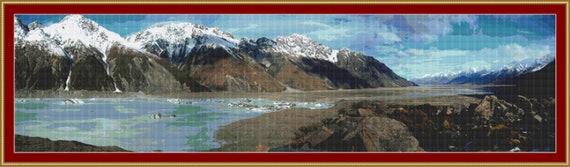 New Zealand Panorama I Cross Stitch Pattern /Digital PDF Files /Instant downloadable