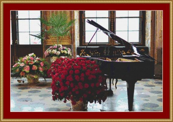 Grand Piano Cross Stitch Pattern /Digital PDF Files /Instant downloadable