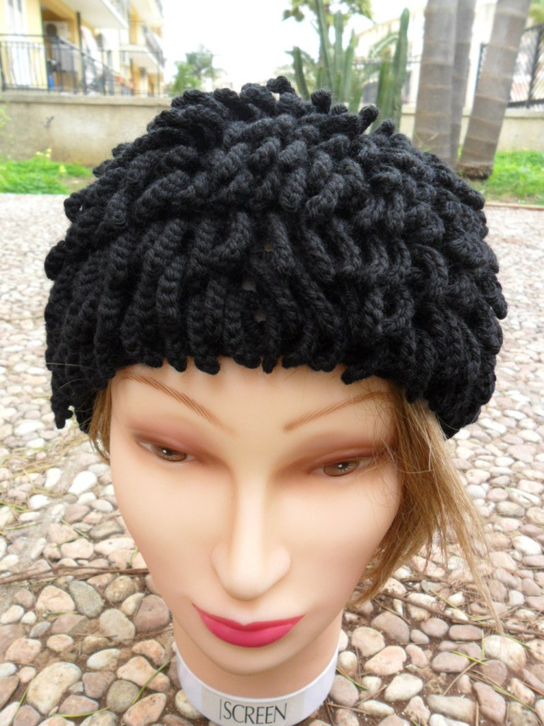 Inspired by Billy Gibbons hat ZZ Top Beanie Bamileke Nudu Hat  0a7a8df3b63