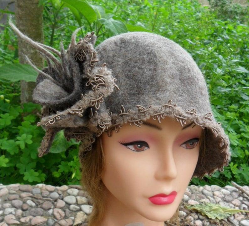Belle epoque Cappello da donna in feltro lana cardata  d90b84204538