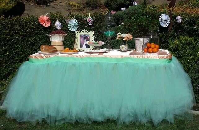 Tutu table skirt tulle table skirt custom made candy buffet etsy image 0 watchthetrailerfo