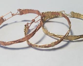 X Copper Bracelet
