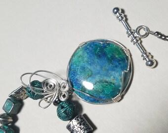 Chrysacola & Azurite Necklace