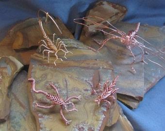 Copper Cricket, Scorpion, Dragonfly or lizard