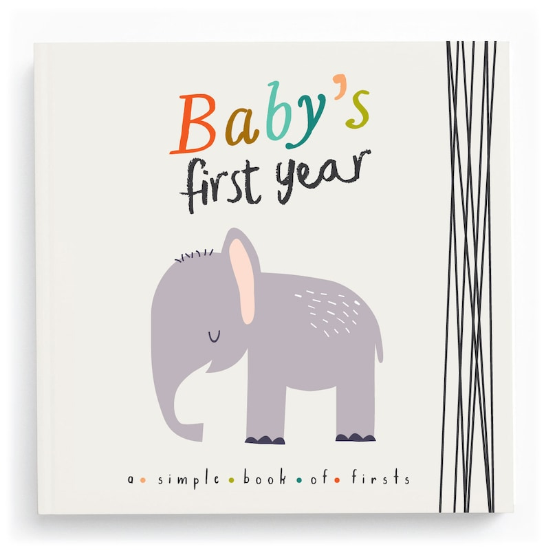 Animal Baby Book Gender Neutral Baby Book Jungle Baby Book image 0