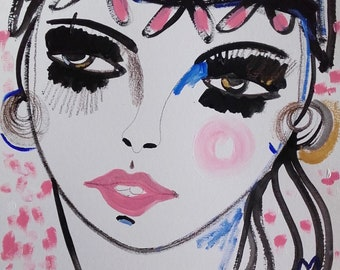 Portratmalerei Portrait Frau Portrait Zeichnung Kunst Etsy