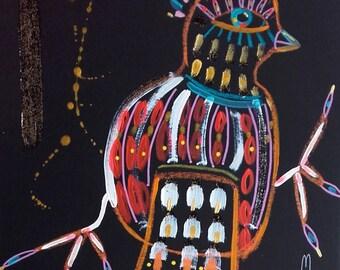 Bird Painting Bird Art Bird Drawing Bird Fine Art Bird Wall Art Home Decor Animal Art Nature