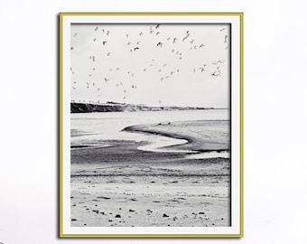 Strand Wand Kunst, Strand Fotografie, Moderne Kunst Druck, Schwarz Weißen  Wandkunst, Wohnzimmer Wandkunst, Schlafzimmer Wand Kunst, Minimalistisch,  ...