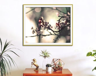 Flower Photography, Nature Print, Flower Art, Cherry Blossom, Rose Quartz, Pink Wall Art, Large Art Print