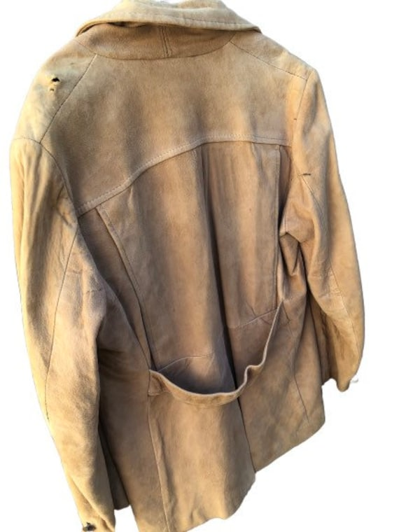 Vintage Leather Jacket  1980/'s Copper Brown Swirly Suede Leather Jacket  Autumnal  Nipped Waist Blazer