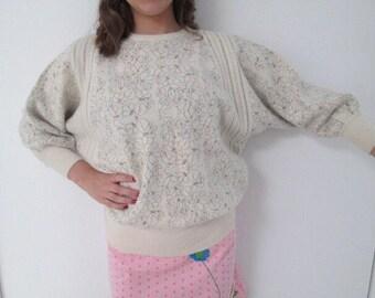 Vintage Angora batwing sweater avant iridescent glitter sweater by JKL Made