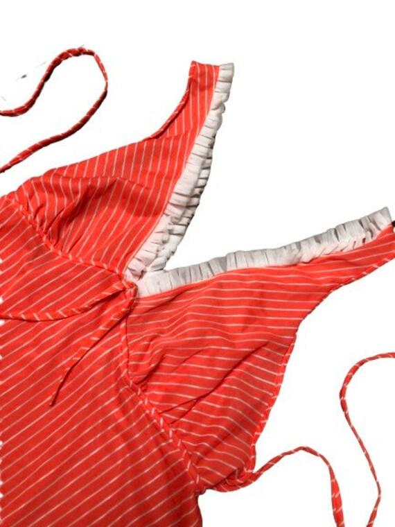 Vintage Slip dress 70s pin-up lingerie cover up n… - image 5