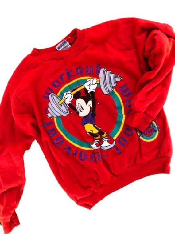 80s Mickey Mouse workout sweatshirt retro Mickey m