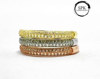 Stackable pave ring