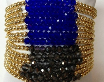 14K gold filled 4mm beads with 4mm glass crystal beads