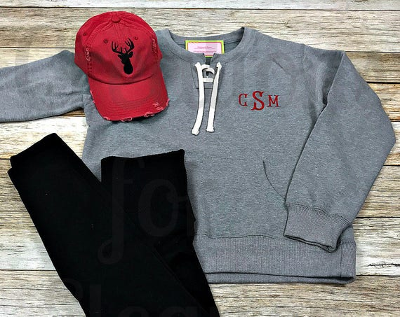 Women's Monogrammed Sweatshirt Set