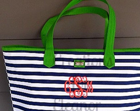 Monogrammed Tote Bag, Monogrammed Beach Bag, Monogrammed Purse, Carry On, Purse, Tote Bag, Beach Bag, Monogrammed Beach Bag, Personalized