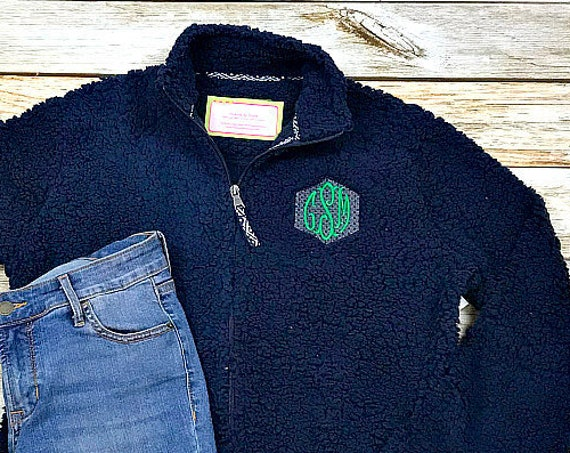 Womens Monogrammed Fleece Coat