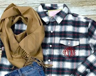 Monogram Flannel Shirt, Flannel Shirt, Bridesmaid Flannel, Monogram Flannel, Monogram Flannel Shirts Bridesmaid, Bridesmaid Flannel Shirt
