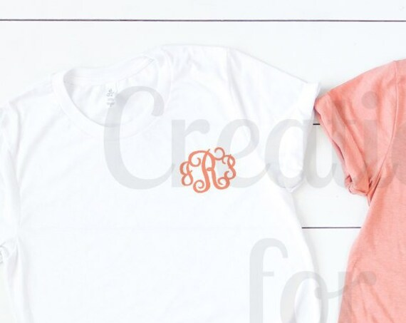 Monogram Tshirt  Womens Monogrammed Tshirt