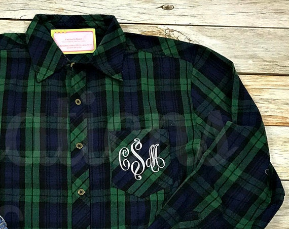 Monogram Flannel Shirt, Flannel Shirt, Bridesmaid Flannel, Monogram Flannel, Monogram Flannel Shirts Bridesmaid, Bridesmaid Flannel Shirt