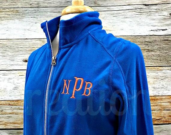 Womens Monogrammed Fleece Coat, Monogrammed Coat, Fleece Coat, Personalized Fleece Coat, Personalized Fleece Jacket, Monogram Coat, Jacket