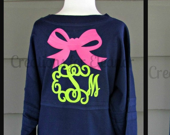 Girls Monogrammed Pom Pom T-shirt, Girls Monogrammed Pullover, Girls Monogram Shirt, Monogram Bow Shirt, Jumbo Bow Shirt, Girls Shirt, Girls