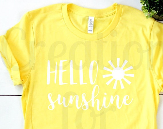 Graphic Tee - Graphic Tshirt for Women - Hello Sunshine Tshirt