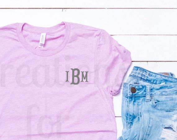 Women's Monogrammed T-shirt Monogrammed Short Sleeve T-Shirt Monogram Tshirt Monogrammed Shirt Women's T-shirt Monogrammed shirt