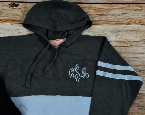 Women's Monogrammed Hooded Sweatshirt, Pullover Hoodie, Monogrammed Hoodie, Personalized Hooded Sweatshirt, Monogram Sweatshirt, Monogrammed