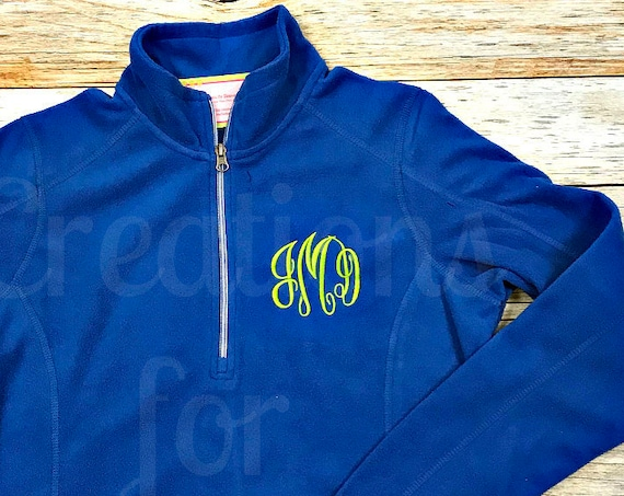 Womens Monogrammed 1/4 Zip Fleece Coat, Monogrammed Pullover, Monogrammed 1/2 Zip, Monogrammed Fleece Coat, Fleece Pullover, Half Zip