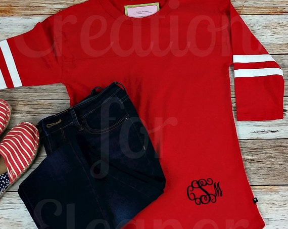 Monogrammed T-shirt, Women's T-shirt, Monogram Shirt, Monogram Baseball, Baseball T-shirt, Monogrammed, Monogram, Cheer Shirt, Bridesmaids