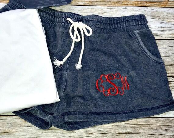 Monogrammed Shorts, Womens Monogrammed Shorts, Cheer Shorts, Dance Shorts, Volleyball Shorts, Lacrosse Shorts, Running Shorts, Field Hockey