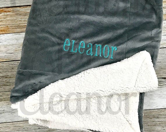 Personalized Minky Sherpa Blanket