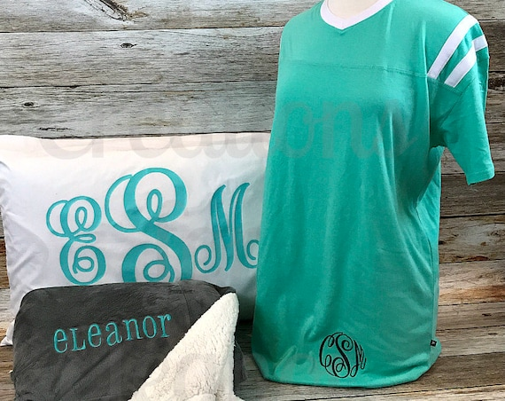 Monogram Nightgown, Monogram Pajamas, Monogram Night Shirt, Monogram Night Gown, Monogram Nightshirts, Nightgown, Nightshirt, Pajamas