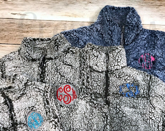 Girls Monogrammed Fleece Coat