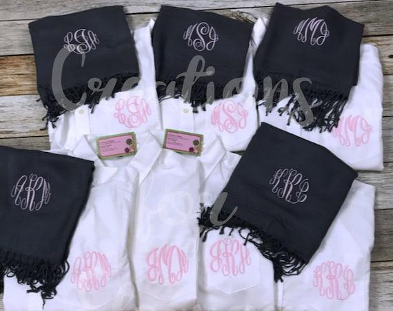 Monogrammed Oxford Shirt, Monogram Oxford, Monogrammed Shirt, Bridesmaids Shirt, Bridal Party Shirt, Bridesmaid Gift, Monogram Button Down