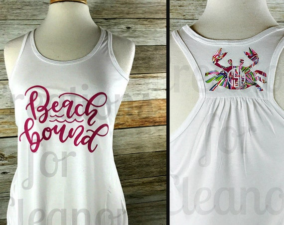 Monogram Tank Top, Monogrammed Tank Top, Personalized Tank Top, Monogrammed Tank, Beach Cover Up, Bridesmaids, Gifts for Her, Monogram Shirt
