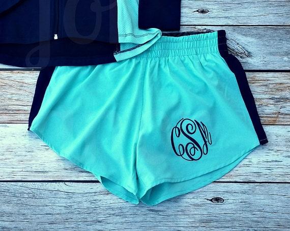 Women's Monogrammed Running Shorts, Running Shorts, Personalized Running Shorts, Personalized Athletic Shorts, Monogrammed Cheer Shorts