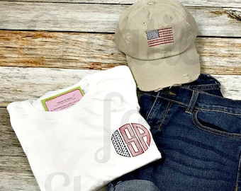Women's USA Monogrammed T-Shirt,America tshirt, Women's Tshirt, Monogrammed Tshirt, Fourth of July, Independence Day, America, Patriotic