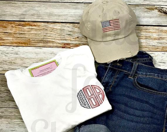 Women's USA Monogrammed T-Shirt