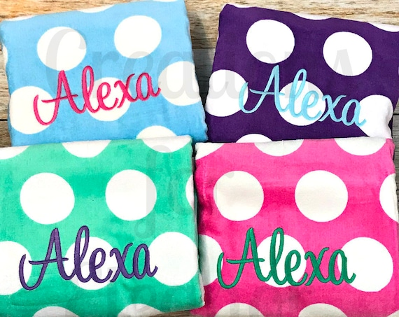Monogrammed Beach Towel, Monogram Beach Towel, Polka Dot Beach Towel, Monogrammed Towel, Bridesmaids Gift, Teachers Gift, Beach Towel, Gift