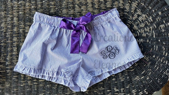 Seersucker Boxers, Seersucker Boxer Shorts, Seersucker Shorts, Seersucker, Monogrammed Boxers, Monogram Boxers, Bridesmaid Gift, Wedding