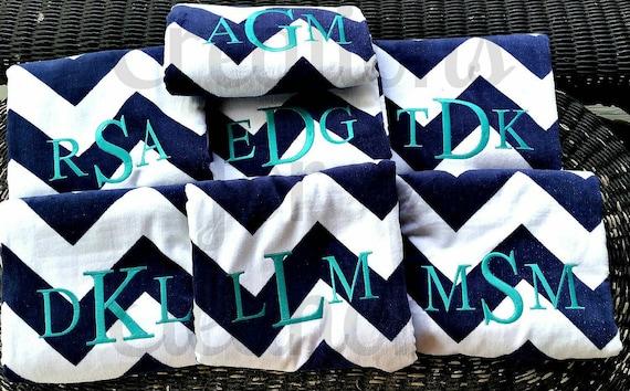 Monogrammed Beach Towel, Chevron Beach Towel, Monogram Towel, Personalized Beach Towel, Bridesmaids Gift, Teachers Gift, Monogram Towel