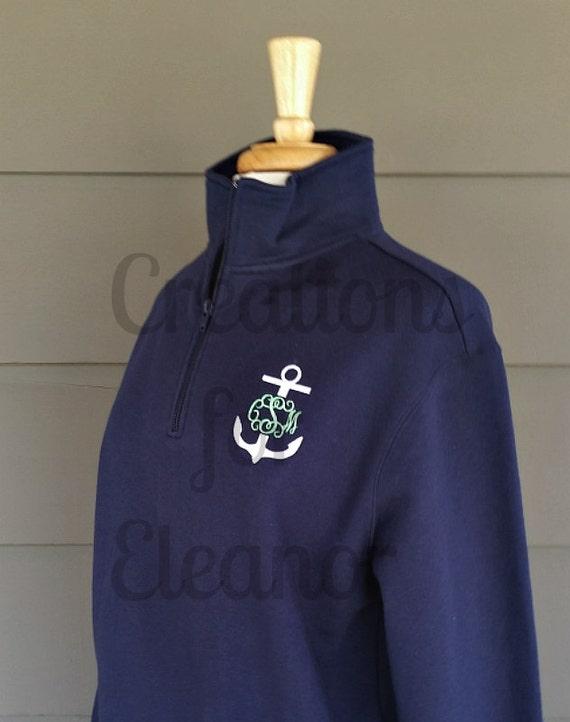 Women's Monogrammed Quarter Zip Sweatshirt, Monogrammed 1/4 Zip Pullover, Half Zip Sweatshirt, Monogrammed Sweatshirt, Custom Sweatshirt