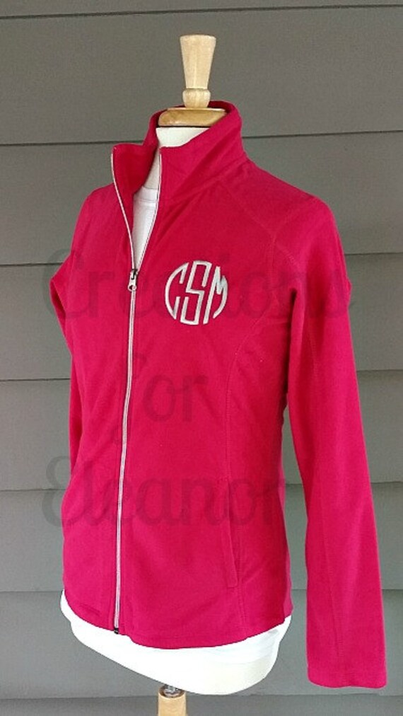 Womens Monogrammed Fleece Coat, Monogrammed Coat, Fleece Coat, Personalized Fleece Coat, Personalized Fleece Jacket, Monogram Coat, Jacket