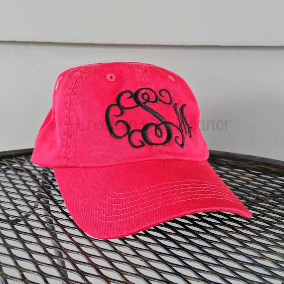 Monogrammed Baseball Hat, Monogrammed hat, Monogrammed cap, Baseball hat, Women's Monogrammed baseball hat