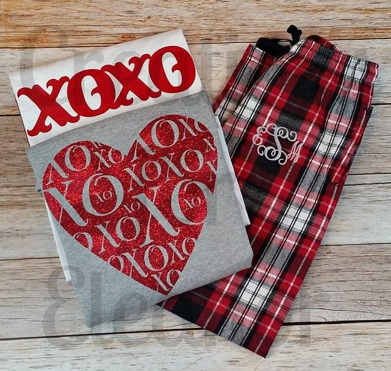 Valentine Pajamas, Valentines Pajamas, Valentine PJs, Valentines Day PJs, Valentine Shirt, Valentines Day, Valentines Day Shirt, Loungewear